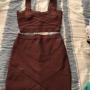 Two piece Bodycon dress set